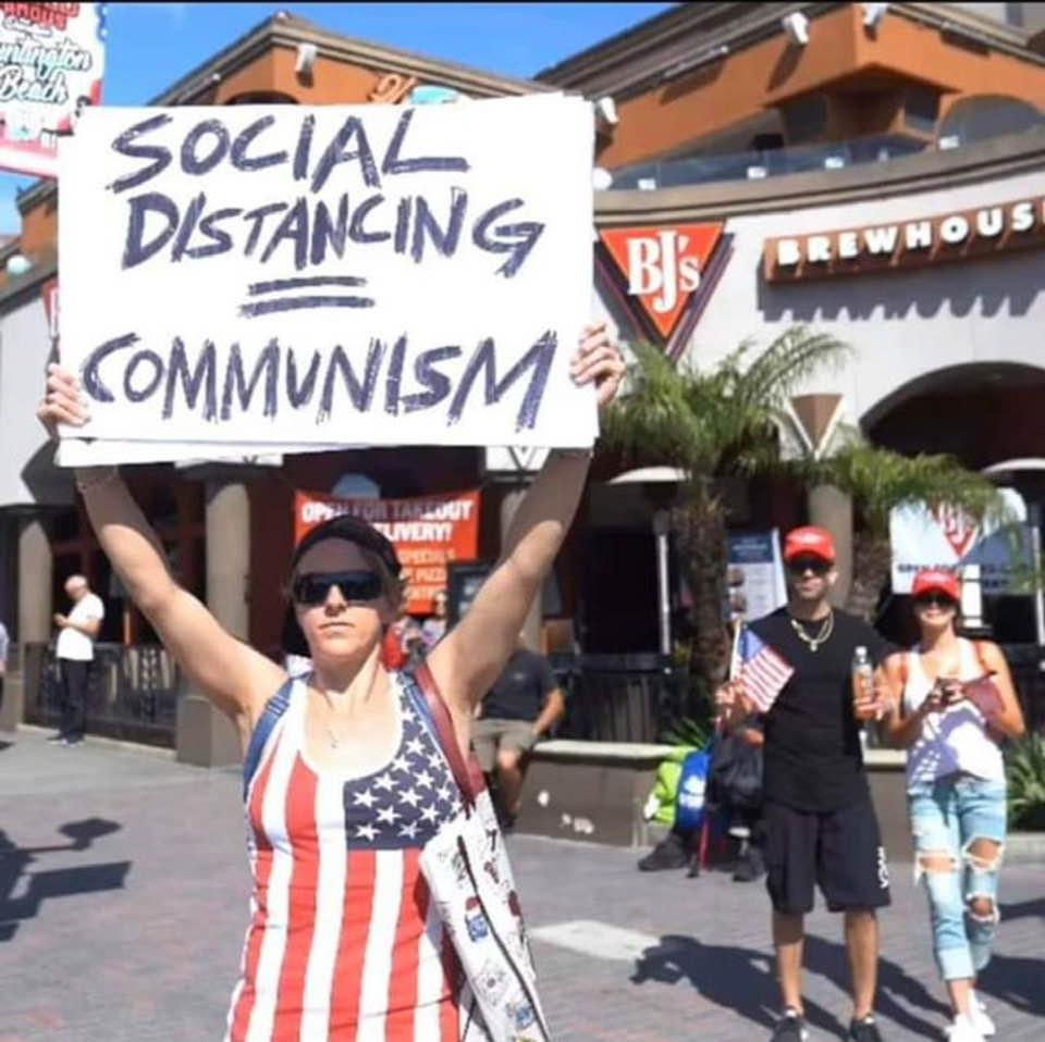 Social distancing = communism